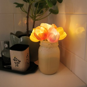러브 튤립 팟 LED 무드등- Love tulip pot LED lights