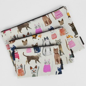 nother Cool Cats Pouch / 나더 고양이 일러스트 파우치